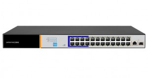 Switch POE 24+1 port Gigabit + 1SFP CCTV na 250m