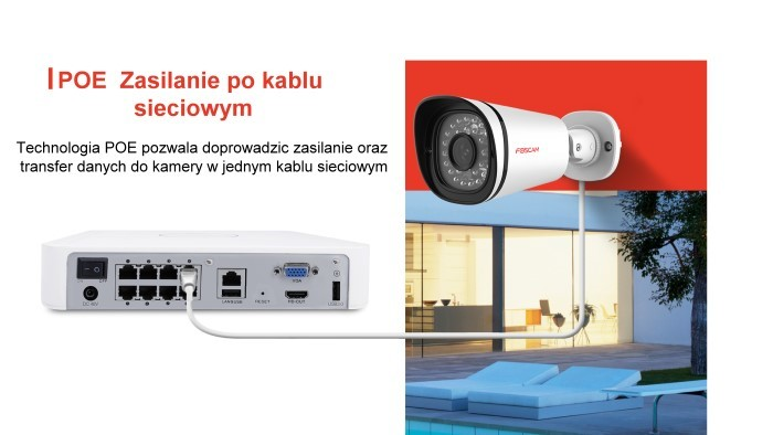 Foscam zestaw do monitoringu FN3108E-B4-1T